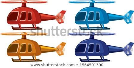 4 異なる 色 実例 背景 青 ストックフォト © bluering