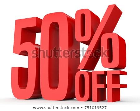 witte · vijftig · procent · geïsoleerd · 50 · financieren - stockfoto © sayver