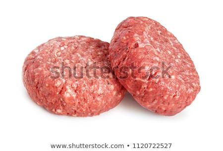 Stock photo: two raw hamburger patties
