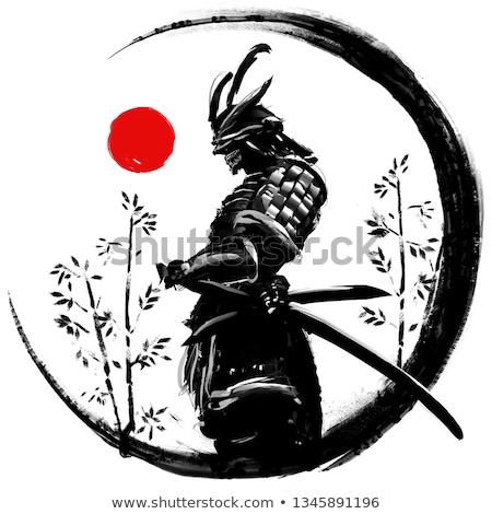 samurai warrior in silhouette style stock photo © jiaking1