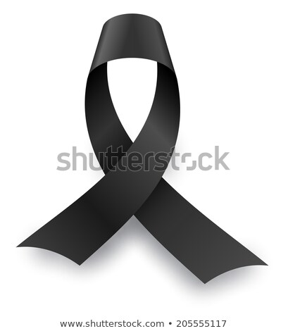Black mourning knot with shadow isolated on white background. Stock photo © tuulijumala