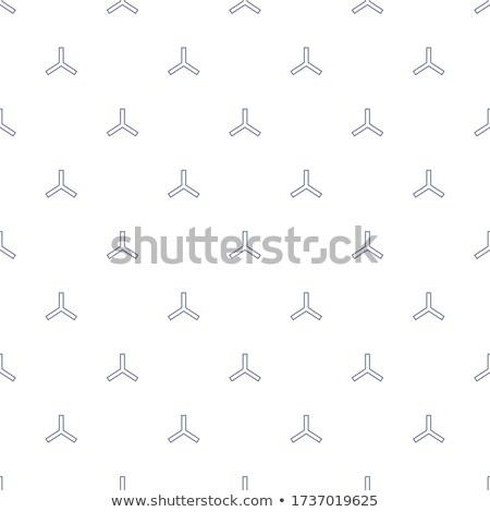 Vector Seamless Black and White Rounded Triangular Swirl Shape Pattern Stock photo © Samolevsky