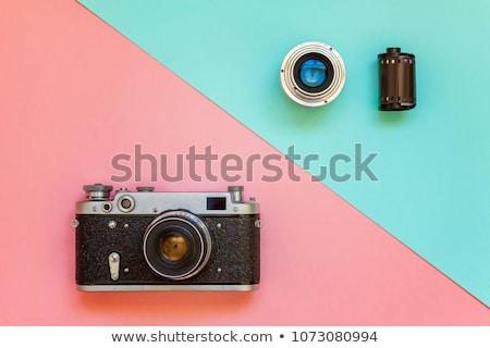 öreg film kamera kellékek televízió videó Stock fotó © Kidza