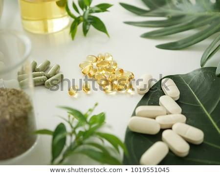 cannabis · levél · izolált · fehér · fű · természet - stock fotó © bdspn