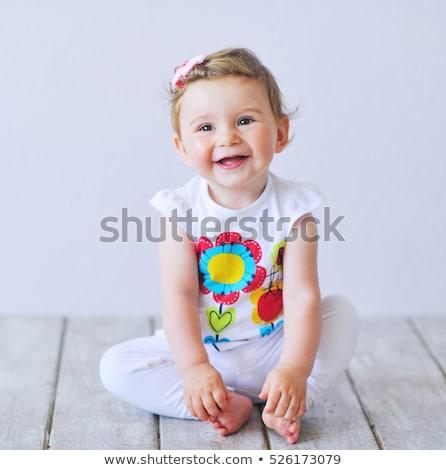 Lánycsecsemők portré gyerekek gyermek biztonság lányok Stock fotó © phbcz