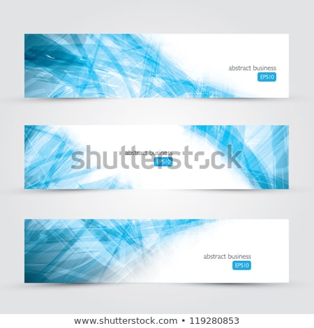 conjunto · abstrato · azul · banners · três · negócio - foto stock © sarts