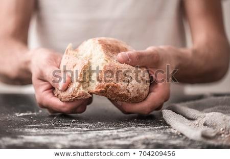 стороны багет рук хлеб кусок Сток-фото © artjazz