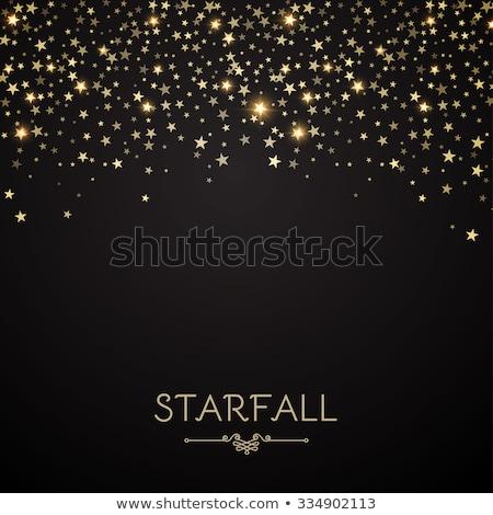 падение звезды перфорированный небольшой металлический черный Сток-фото © prill