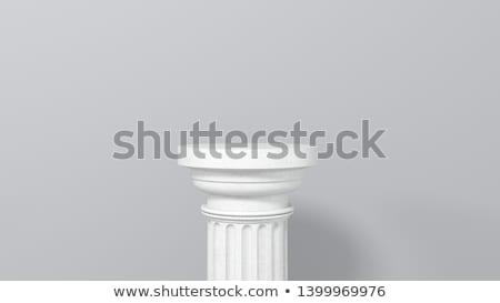 Antieke kolom Grieks stijl zijaanzicht geïsoleerd Stockfoto © pakete