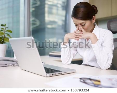 女性 · 事務員 · 雇用者 · 小さな · ストレスの多い - ストックフォト © rastudio