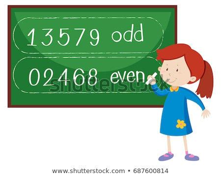Opposite wordcard for odd and even Stock photo © bluering