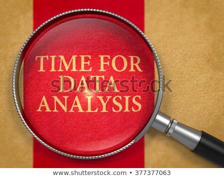 бизнеса · аналитика · объектив · старой · бумаги · темно · красный - Сток-фото © tashatuvango