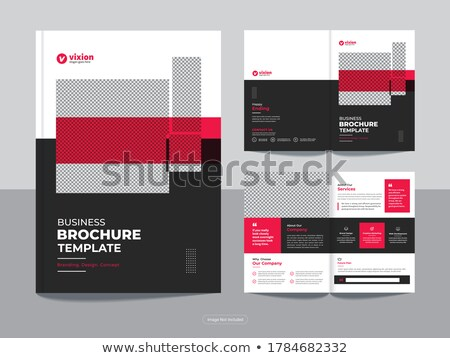 professional blue bi fold brochure template design vector Stock photo © SArts