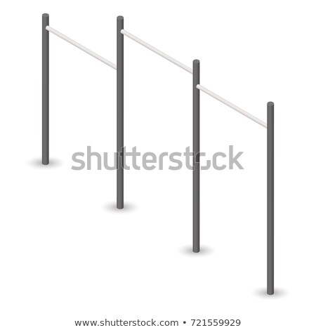 Pull Up Bar In 3d Vector Illustration Сток-фото © kup1984