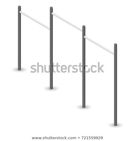 bar · 3D · aço · isolado · branco · elemento - foto stock © kup1984