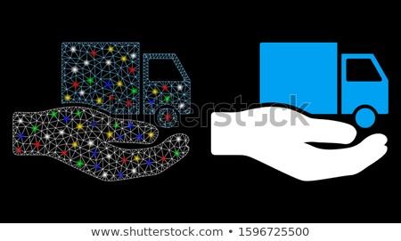 Van entrega servicio mano icono gris Foto stock © ahasoft