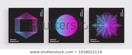 abstract vector purple black hexagonal background simple modern design stock photo © kurkalukas