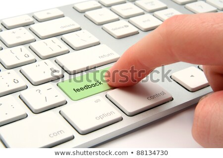 hand finger press market research keypad stock photo © tashatuvango