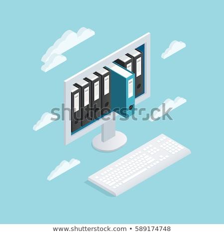 üzlet könyv cím adatbiztonság 3D közelkép Stock fotó © tashatuvango