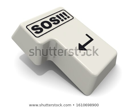 no concept person click keyboard button stock photo © tashatuvango