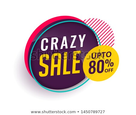 crazy sale offer discount banner voucher template design Stock photo © SArts