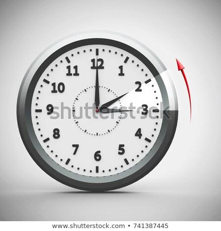 oszczędność · czasu · ilustracja · zegar · technologii - zdjęcia stock © oakozhan