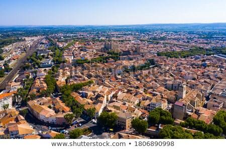Pittoresque anciens quai stylisé vieux ville Photo stock © tracer