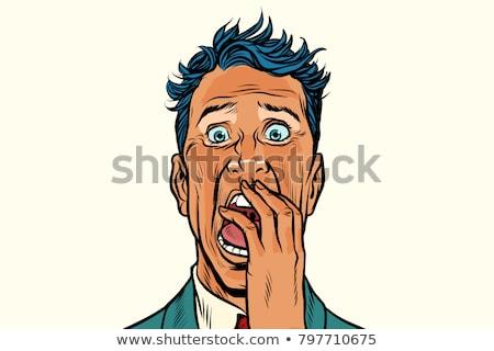 Terreur peur cauchemar homme isolé blanche Photo stock © studiostoks