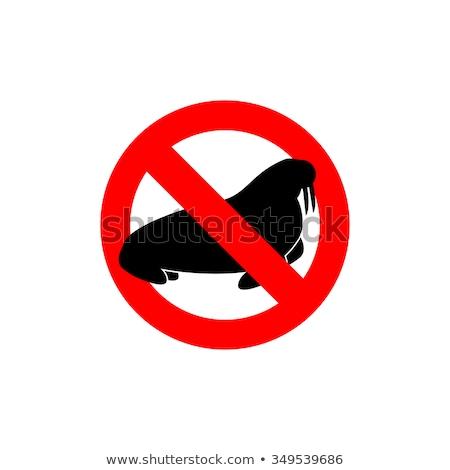 verboden · zwemmen · persoon · water · Rood - stockfoto © popaukropa
