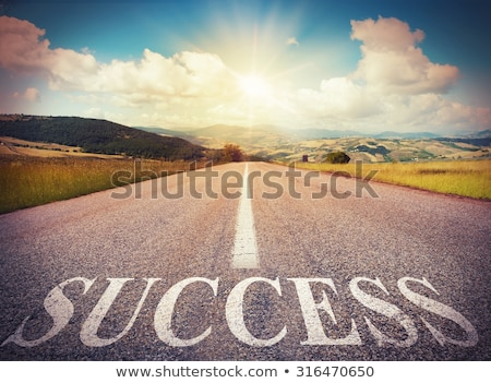 Foto stock: Carretera · éxito · camino · oportunidad · logro · ruta