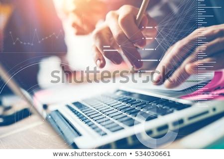 abierto · programa · espacio · de · la · copia · año · nuevo · palabras · negocios - foto stock © neirfy