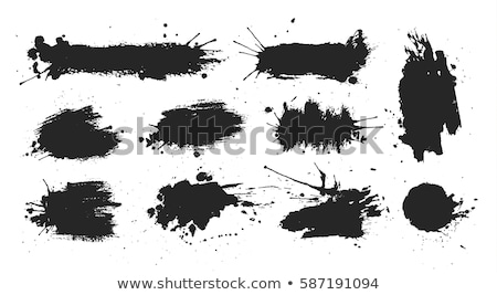 Black Blots Set Isolated Stock photo © cammep