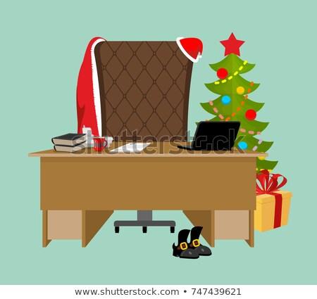 пусто служба Дед Мороз рабочая станция работу таблице Сток-фото © popaukropa