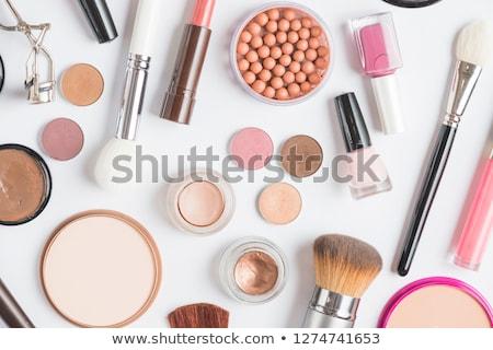beleza · profissional · cosméticos · make-up · pó · batom - foto stock © flisakd