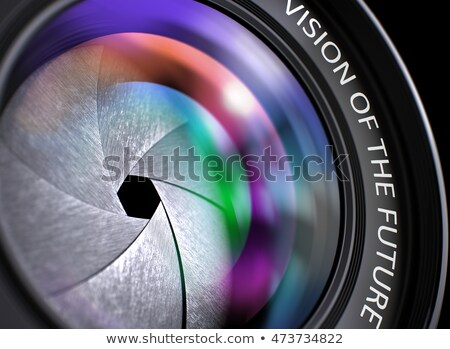 Visie groei lens reflex camera foto Stockfoto © tashatuvango