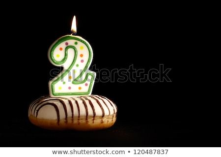 Numer świece urodziny dwa rysunku wakacje Zdjęcia stock © MaryValery