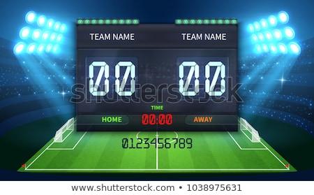 Voetbal voetbal sport digitale scorebord geïsoleerd Stockfoto © konturvid