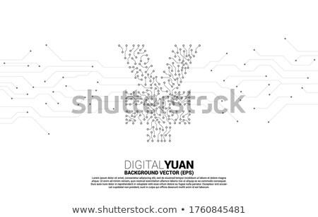 Bleu bitcoin numérique monnaie circuit argent Photo stock © gladiolus