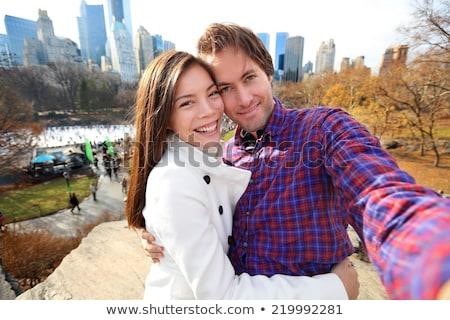 女性 写真 セントラル·パーク 市 技術 ストックフォト © IS2