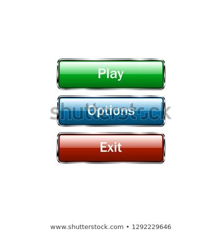 kék · ovális · lehetőségek · ablakok · szett · rajz - stock fotó © studioworkstock