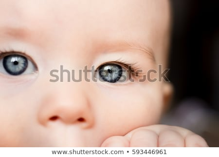 Close up of baby girl?s blue eyes Stock photo © IS2