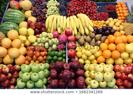 Plums on fruit stall Stock photo © IS2