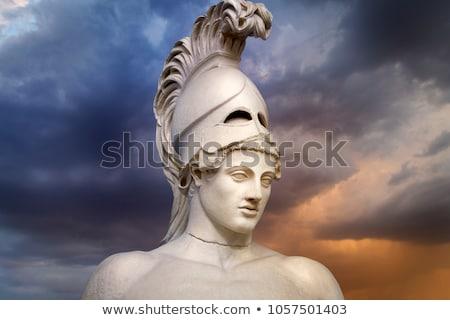 starożytnych · grecki · wojownika · kask · ilustracja · strona - zdjęcia stock © krisdog