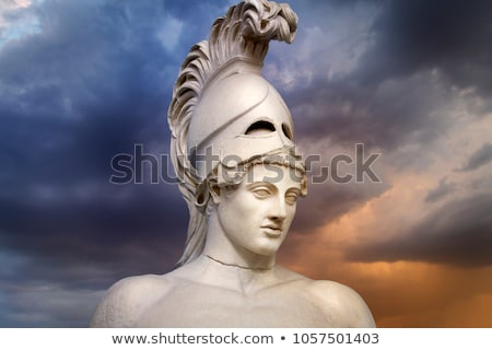 Espartano antigo grego troiano guerreiro capacete Foto stock © Krisdog