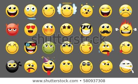 Sonriendo amarillo Cartoon cara sonriente carácter Foto stock © hittoon