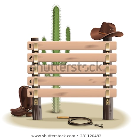 Vector Western Board with Cowboy Accessories Stock photo © dashadima