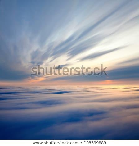 Bulutlar üzerinde resim bulut katman Stok fotoğraf © wildnerdpix
