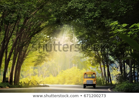 Stock photo: Kids Come to School By Bus