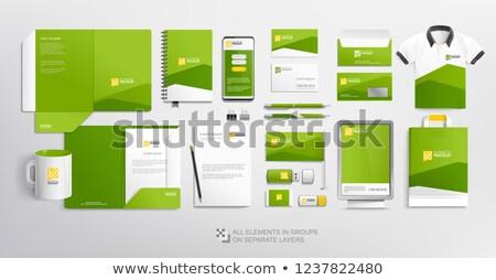 Soyut sarı modern marka kimlik iş Stok fotoğraf © SArts