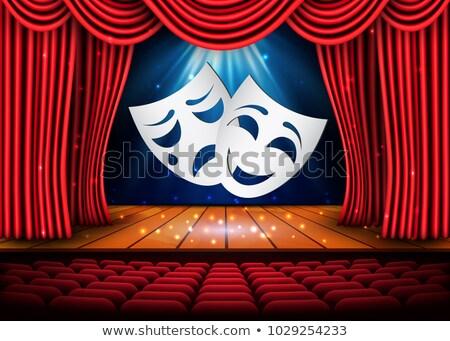 Boldog szomorú színház maszkok színpadi jelenet Stock fotó © olehsvetiukha